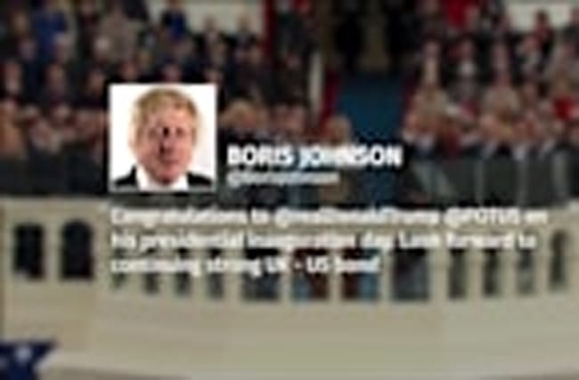 Twitter reacts to Trump inauguration: Boris Johnson, Piers Morgan and The White House