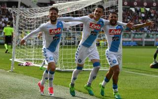 Napoli thrash Torino to move second in Serie A