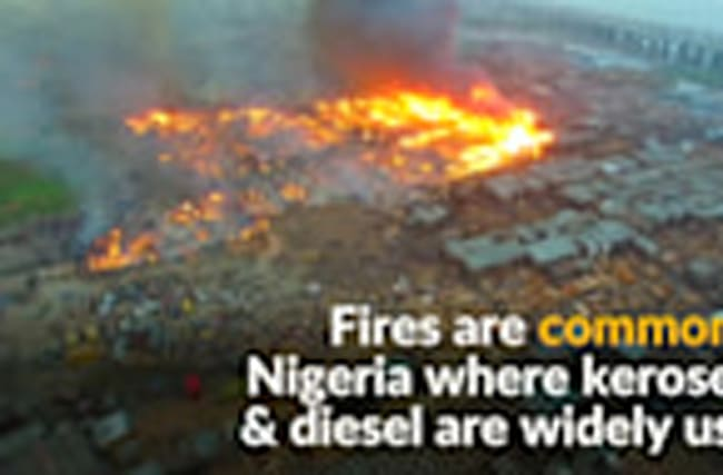 Dozens of homes destroyed in Nigerian fire