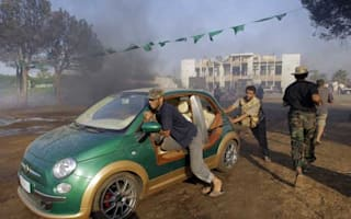 Libyan rebels claim Gadaffi's electric Fiat 500