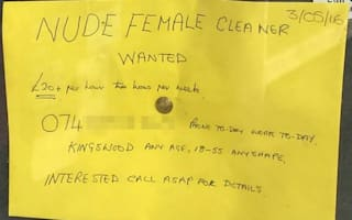 Pensioner advertises for naked cleaner - would you do it?