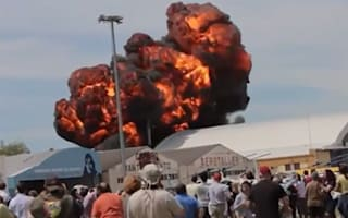 Video: Horror at Madrid air show as plane crashes and explodes in fireball