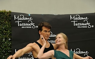 Patrick Swayze's wife unveils his waxwork at Madame Tussauds in LA