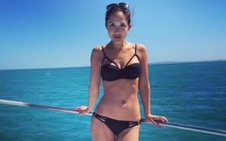 Myleene Klass poses in bikini before shark diving in South Africa