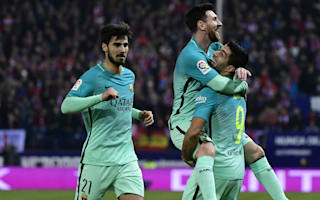 Atletico Madrid 1 Barcelona 2: Messi and Suarez fire holders towards final
