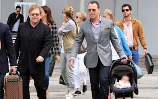 Elton John and family arrive in Venice for the Biennale
