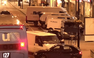 Horror as white van man repeatedly rams car