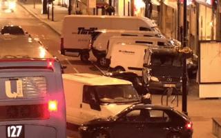 Horror as white van man repeatedly rams car