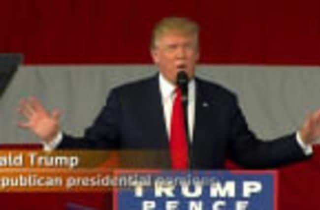 "Trump: Poll shows ""We're winning"""