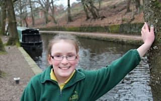 Girl, 9, jumps into freezing canal to save drowning boy on UK holiday