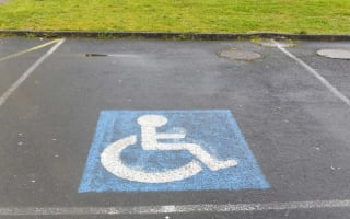 Would you park in this space if you weren't disabled?