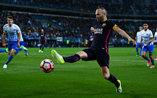 Iniesta refuses to blame Malaga defeat on referee