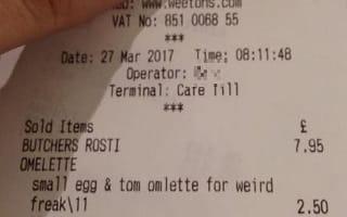 Mother described as 'weird freak' for ordering smaller portion