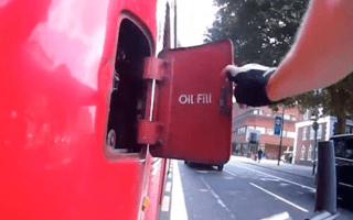 Enraged cyclist gets his own back on bus driver by hitting emergency kill switch