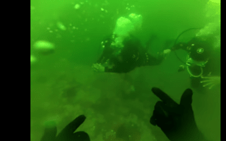 Scuba diver rescues woman panicking on ascent