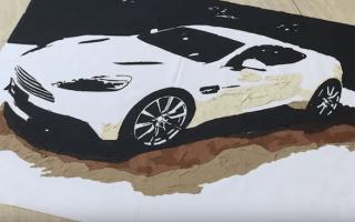 Aston Martin craftsmen create amazing Vanquish artwork
