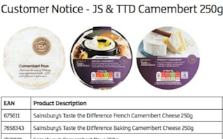 Sainsbury's recalls Camembert products over Listeria risk