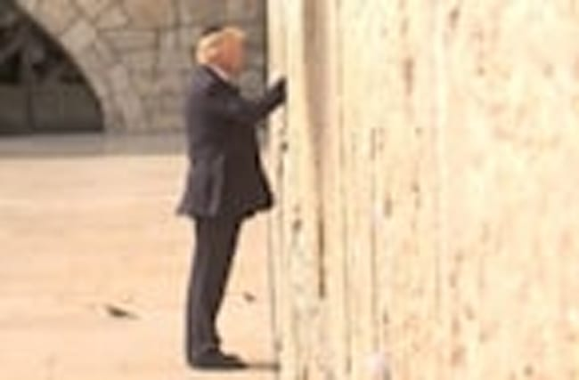 In presidential first, Trump prays at Jerusalem's Western Wall