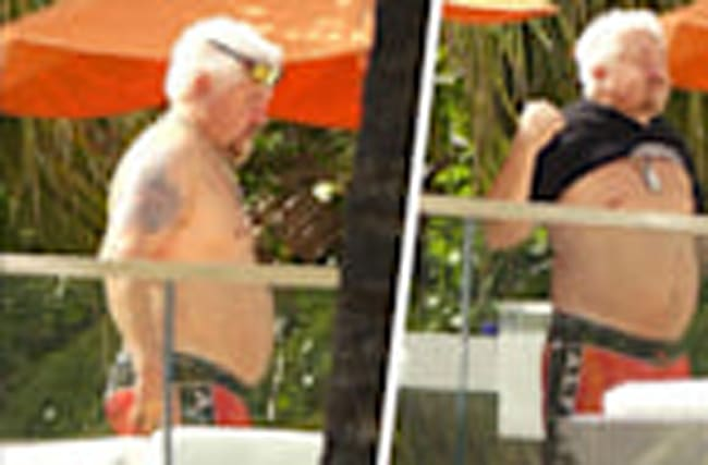 Guy Fieri Topless In Miami!