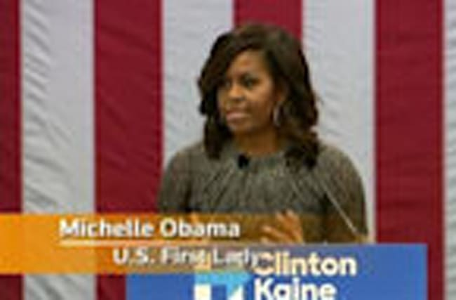 "Michelle Obama: ""rigged"" accusations aimed at keeping voters from polls"