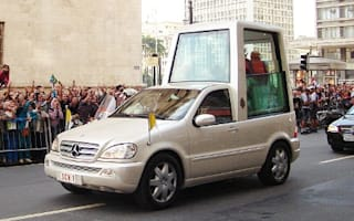 Pope's bulletproof Mercedes already in the country