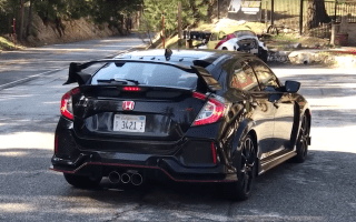 New Honda Civic Type R spotted on US streets