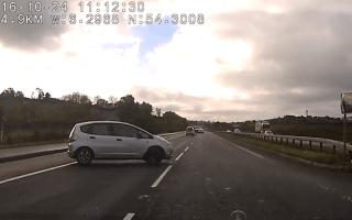 Driver causes big wreck by pulling stupid U-turn