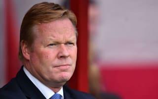 Everton were second best, says Koeman