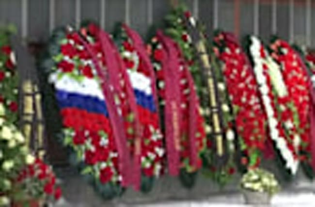 Funeral held for victims of Russian military plane crash