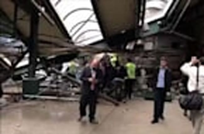 Raw: Inside Hoboken Train Station After Crash