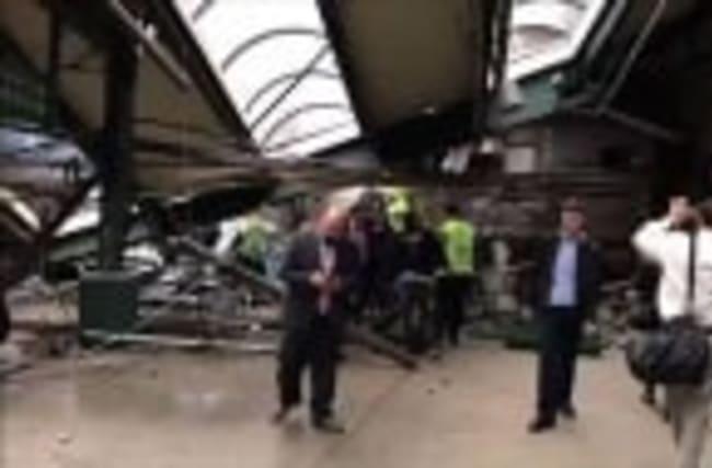 Raw: Inside Hoboken Train Station After Crash