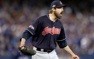 Indians' Miller sets postseason strikeout record