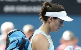 Injured Muguruza allays Australian Open concerns