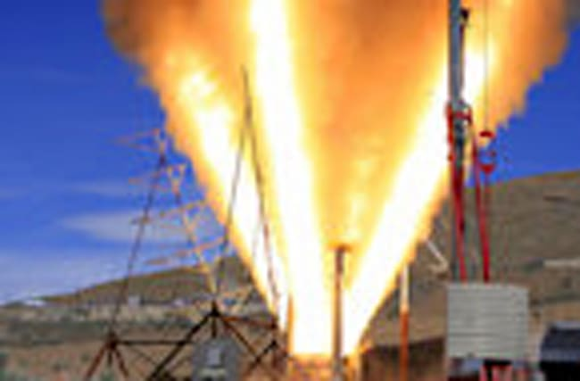 Highlights from test of Launch Abort Motor QM-1 static fire