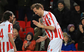 Crouch enters Premier League's 100 club - and celebrates with the robot
