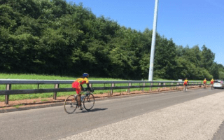 Sri Lankan cycling team spotted riding on M74: Police called