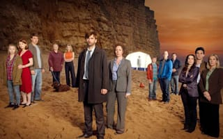 Tourists flock to Broadchurch beach to lay flowers for fictional child's death