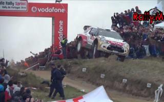 Video: WRC driver Kris Meeke pulls off stunning 48m jump
