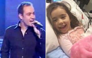 Pop star raising cash for daughter with inoperable brain tumour