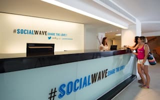 Pictures: Inside the world's first Twitter-themed hotel