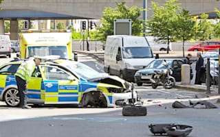 Motorcycle crash sees five rushed to hospital