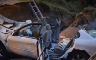 Mother and son run over after falling into sinkhole