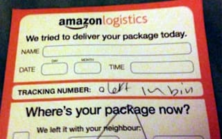 Courier decides to leave delivery in the bin