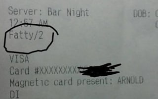 Waiter fired for writing 'fatty' on customer's receipt