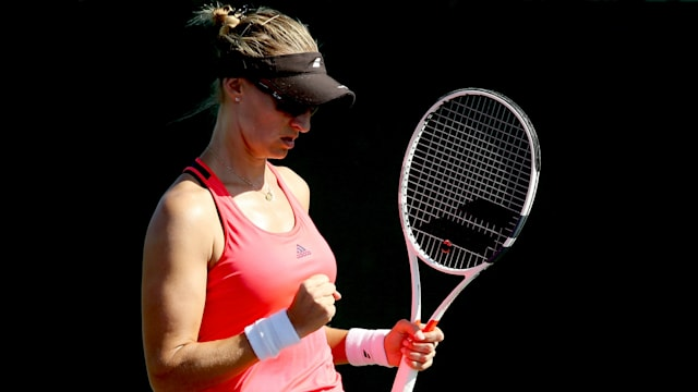 Lucic-Baroni moves into Charleston semis, Wozniacki denied