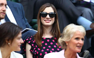 Actress Anne Hathaway brings Hollywood glamour to Wimbledon