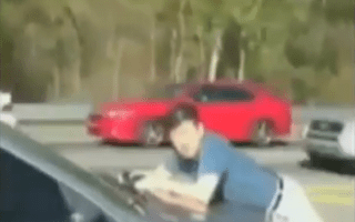 Video: Hit-and-run victim suffers high-speed ordeal after clinging to bonnet