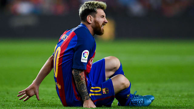 Barcelona confirm injury to Lionel Messi