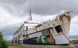 Explorer enters abandoned cruise ship off Wales for first time