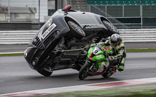 Alfa Romeo launches limited edition MiTo with daring motorcycle stunt